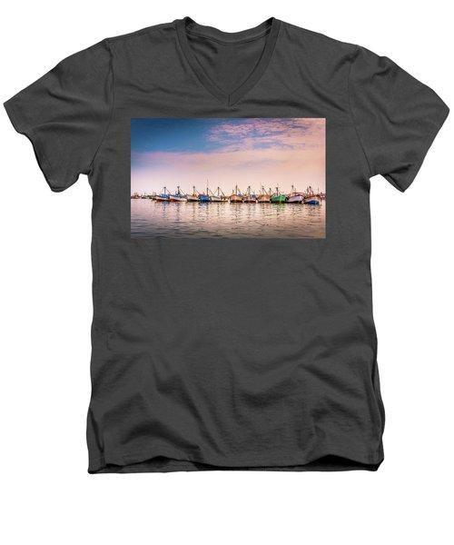 Fishing Boats Men's V-Neck T-Shirt