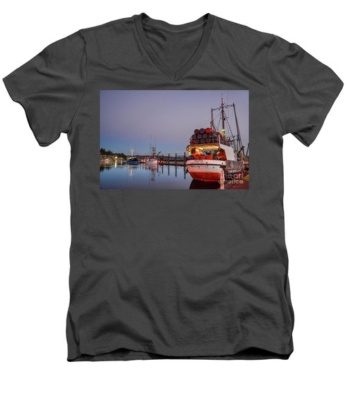 Fishing Boats Waking Up For The Day Men's V-Neck T-Shirt