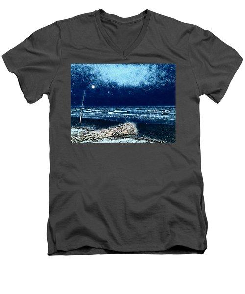 Fishing For The Moon Men's V-Neck T-Shirt