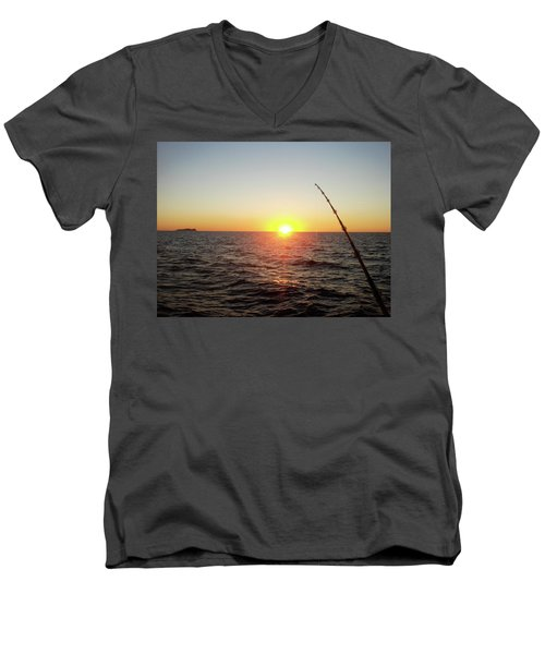 Fishing Pole Taken On 35mm Film Men's V-Neck T-Shirt
