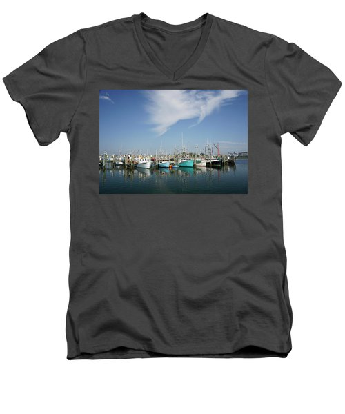 Fishing Vessels At Galilee Rhode Island Men's V-Neck T-Shirt