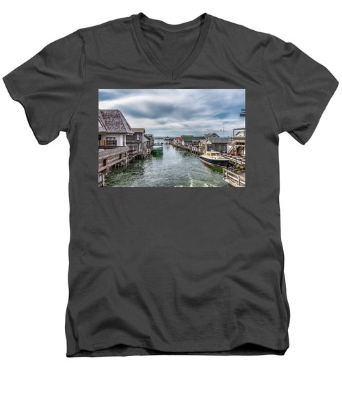 Fishtown Michigan In Leland Men's V-Neck T-Shirt