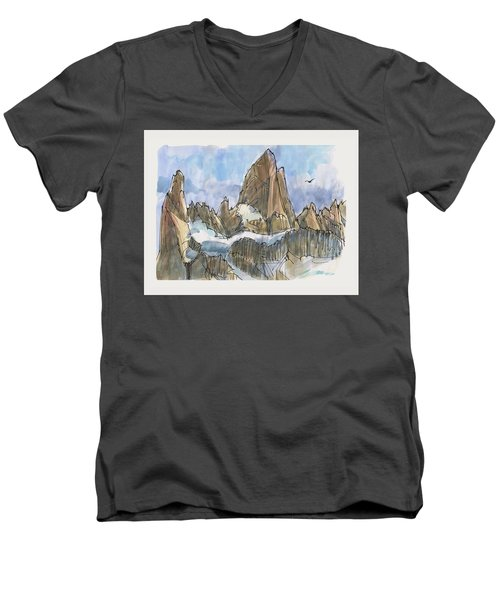 Fitz Roy, Patagonia Men's V-Neck T-Shirt