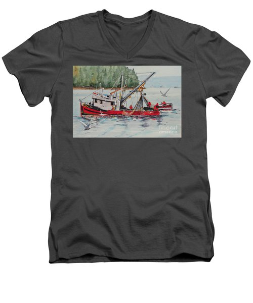 Five Miles Out Of Valdez Men's V-Neck T-Shirt