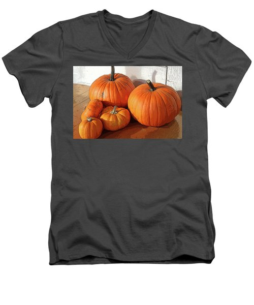Five Pumpkins Men's V-Neck T-Shirt