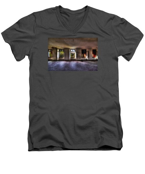 Five Windows On The Wood - Cinque Finestre Sul Bosco Men's V-Neck T-Shirt