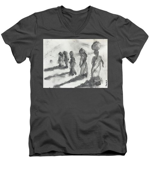 Five Women Immigrants Men's V-Neck T-Shirt