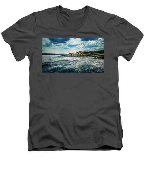 Fjord From The Ferry Men's V-Neck T-Shirt