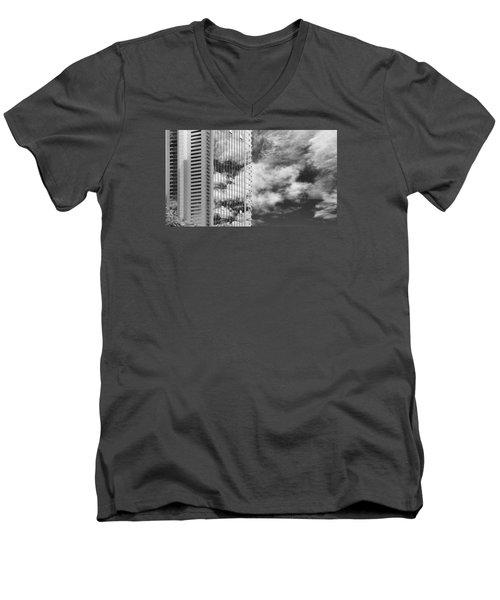 Fla-150531-nd800e-25123-bw Men's V-Neck T-Shirt