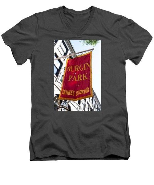 Flag Of The Historic Durgin Park Restaurant Men's V-Neck T-Shirt