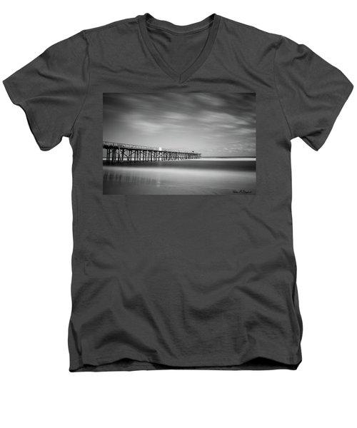 Flagler Beach Pier Men's V-Neck T-Shirt