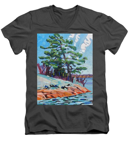 Flags And Contrails Men's V-Neck T-Shirt