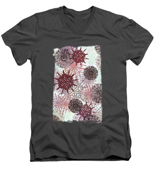 Flakes Love Men's V-Neck T-Shirt by AugenWerk Susann Serfezi