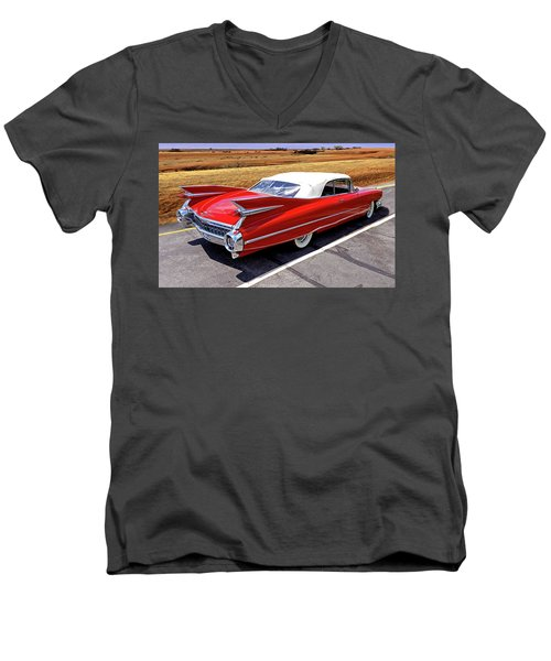 Flamboyant Fifty-nine Men's V-Neck T-Shirt by Christopher McKenzie