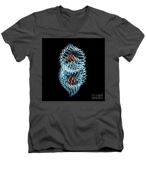Flame Heart Men's V-Neck T-Shirt