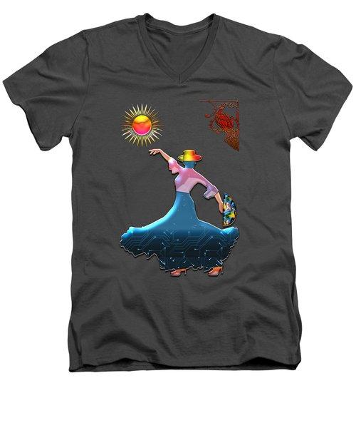 Flamenco Dancer Men's V-Neck T-Shirt