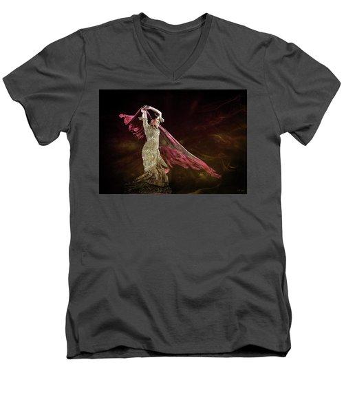 Flamenco Nomada  Men's V-Neck T-Shirt
