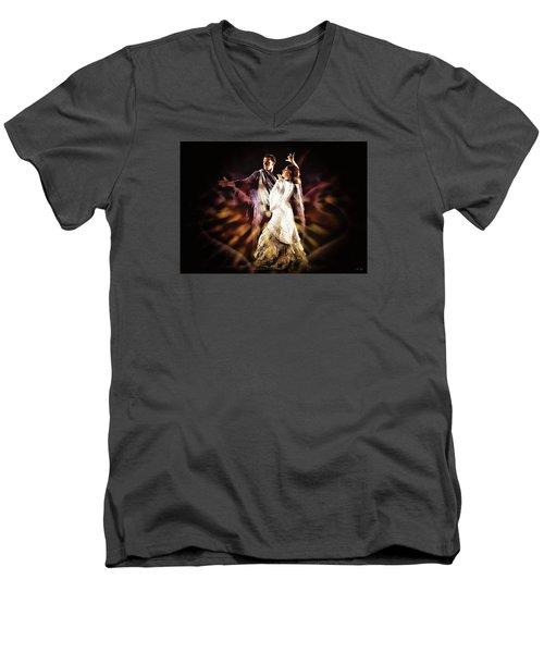 Flamenco Performance Men's V-Neck T-Shirt