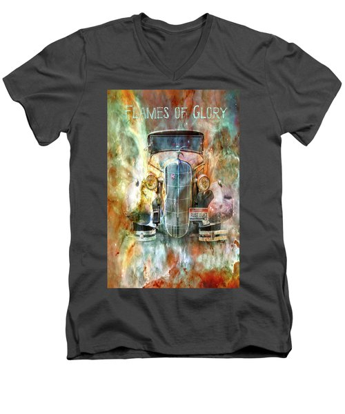 Flames Of Glory Men's V-Neck T-Shirt