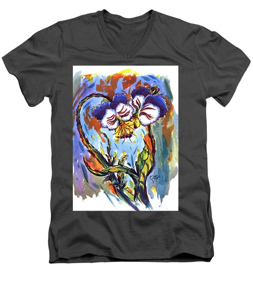 Flames Of Love Men's V-Neck T-Shirt