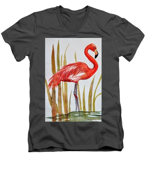 Flamingo Men's V-Neck T-Shirt