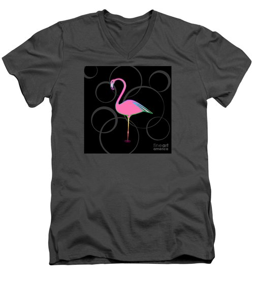 Flamingo Bubbles No 1 Men's V-Neck T-Shirt