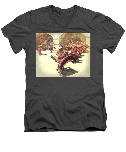 Flaring Skirts Men's V-Neck T-Shirt