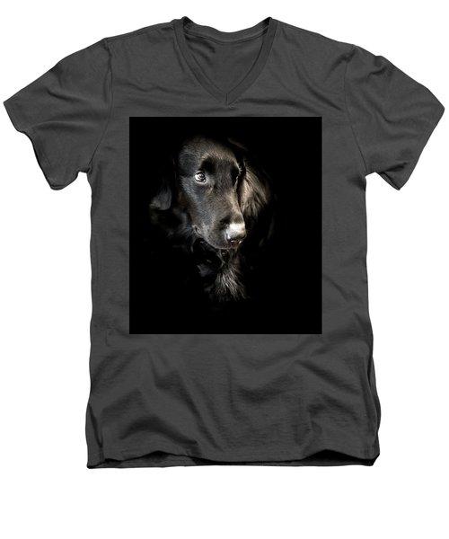 Flat Coated Retriever Men's V-Neck T-Shirt