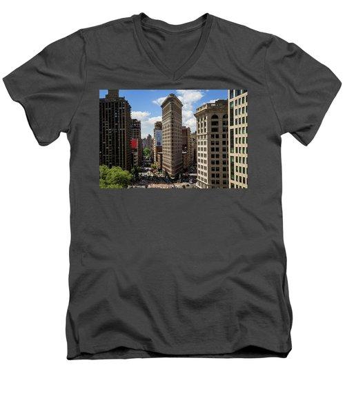Flat Irion  Men's V-Neck T-Shirt