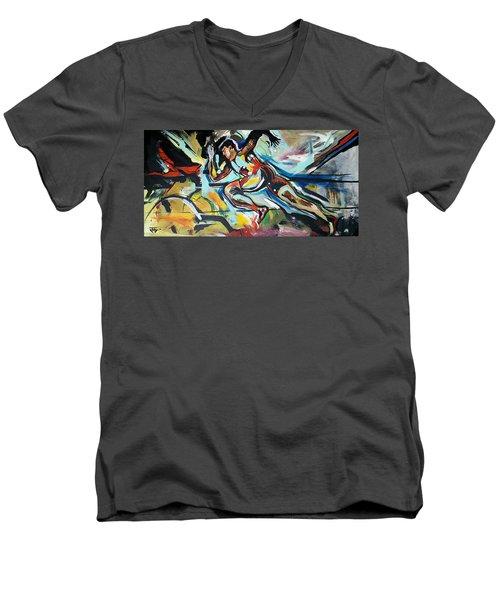 Flat Run Men's V-Neck T-Shirt