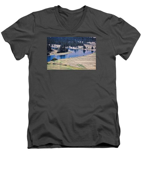 Flathead River 1 Men's V-Neck T-Shirt by Janie Johnson