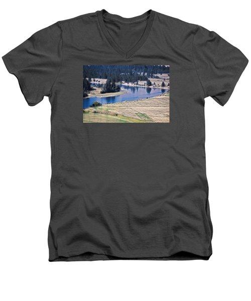 Flathead River 1 Men's V-Neck T-Shirt
