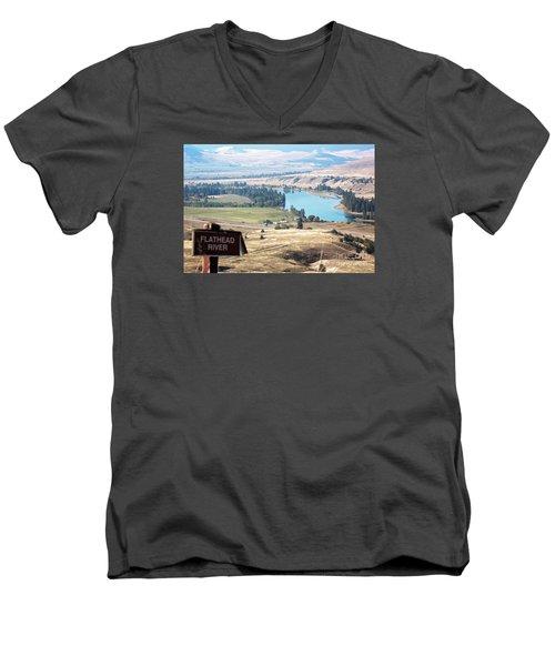 Flathead River 4 Men's V-Neck T-Shirt by Janie Johnson