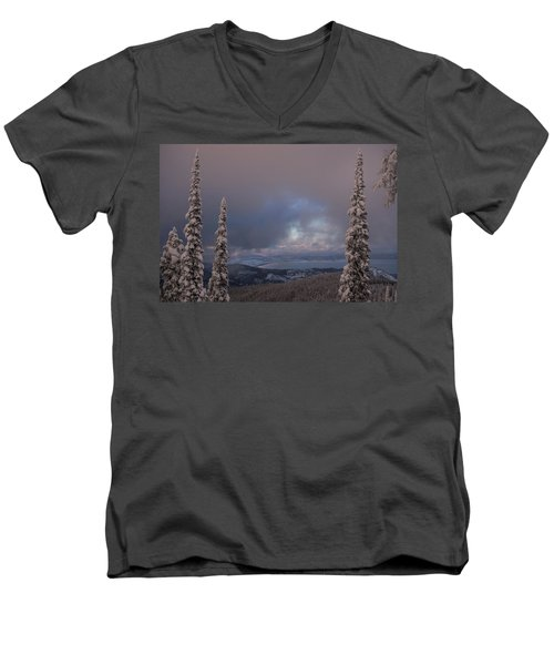 Flathead Winter 2016 Men's V-Neck T-Shirt