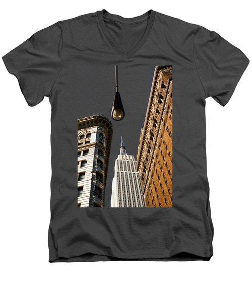 Flatiron District Men's V-Neck T-Shirt by Paul Lamonica