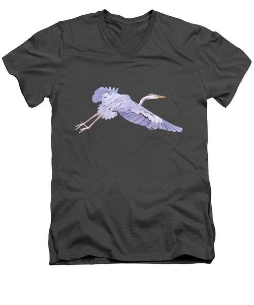 Fliegan Men's V-Neck T-Shirt by Judy Kay