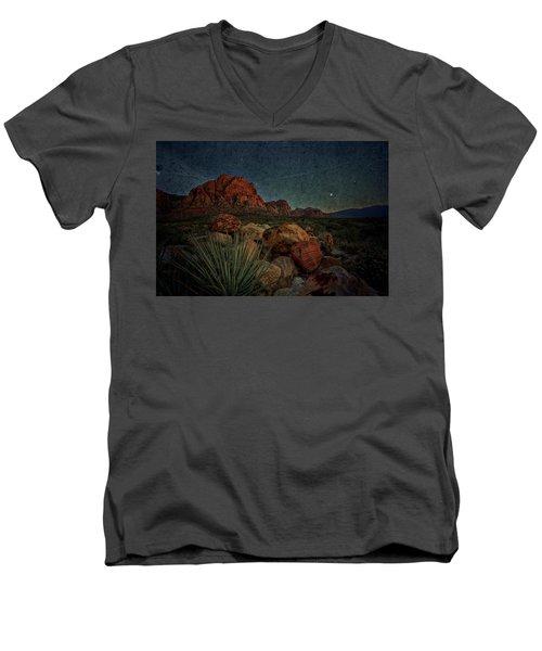 flight AM Men's V-Neck T-Shirt by Mark Ross