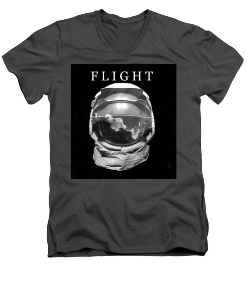 Men's V-Neck T-Shirt featuring the photograph Flight by David Lee Thompson