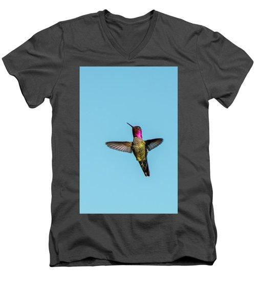 Flight Of A Hummingbird Men's V-Neck T-Shirt