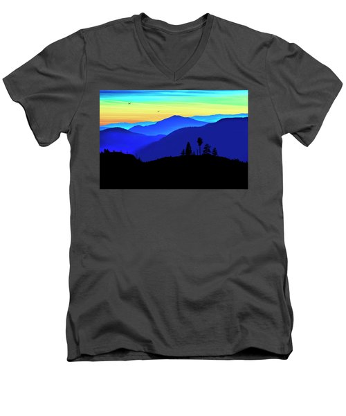Men's V-Neck T-Shirt featuring the photograph Flight Of Fancy by John Poon