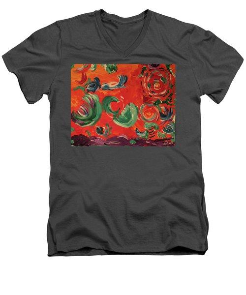 Flight Of Lotus Men's V-Neck T-Shirt