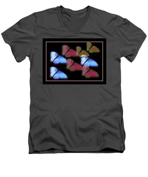 Flight Of The Butterflies Men's V-Neck T-Shirt by Rosalie Scanlon