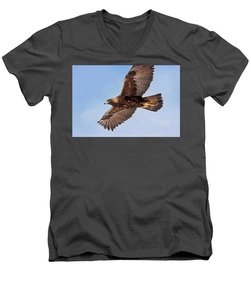 Flight Of The Golden Eagle Men's V-Neck T-Shirt