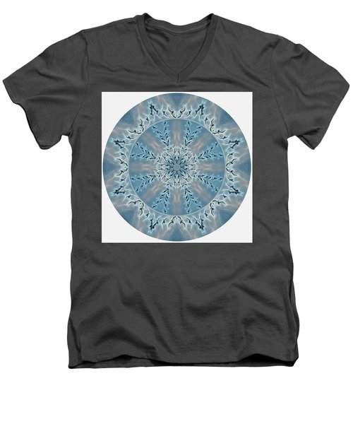 Flight Of The Tundra Swan Mandala Men's V-Neck T-Shirt