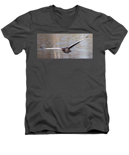 Men's V-Neck T-Shirt featuring the photograph Flight by Sergey Simanovsky