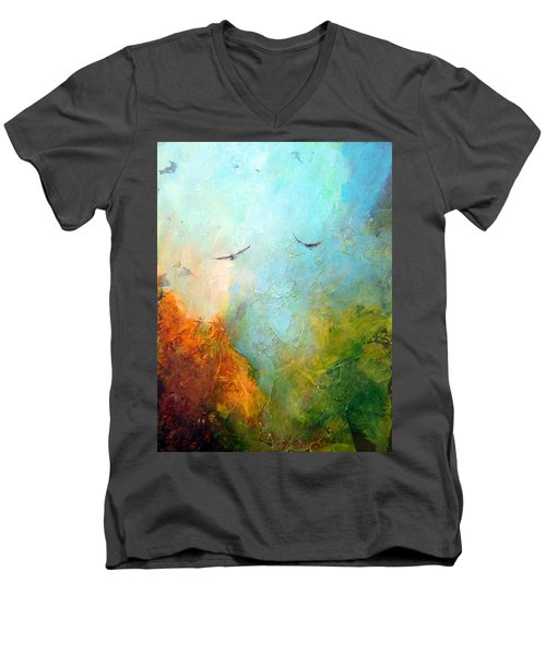 Flights Of Fancy Men's V-Neck T-Shirt by Dina Dargo