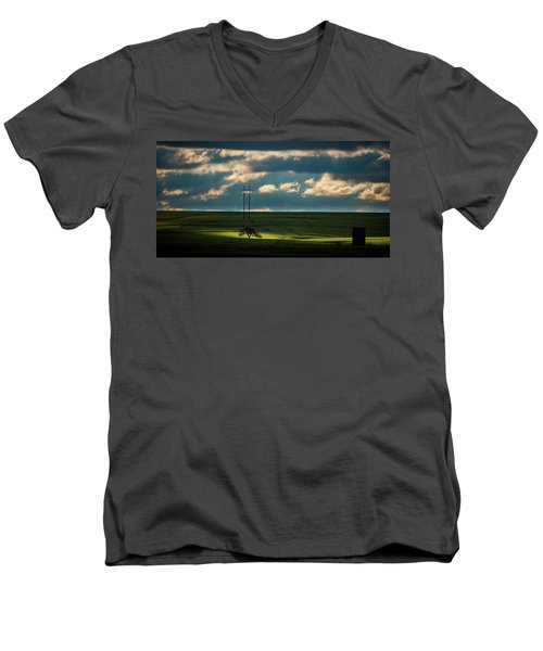 Flint Hills Power 2 Men's V-Neck T-Shirt