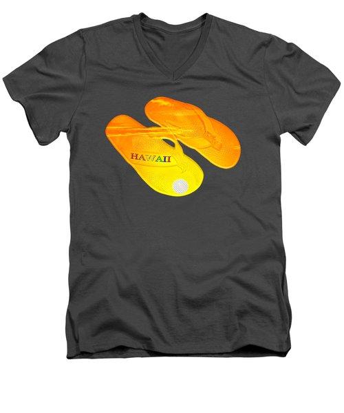 Flip Flops Kona Sunset Men's V-Neck T-Shirt by David Lawson