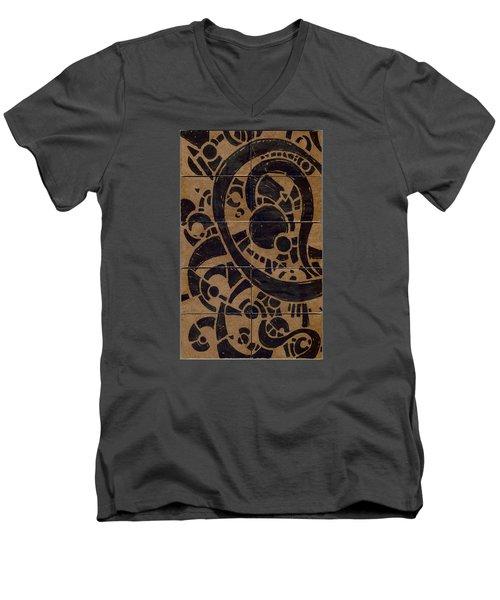 Flipside 1 Panel A Men's V-Neck T-Shirt by Joseph A Langley