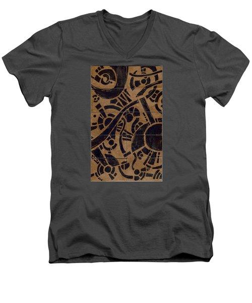 Flipside 1 Panel B Men's V-Neck T-Shirt by Joseph A Langley